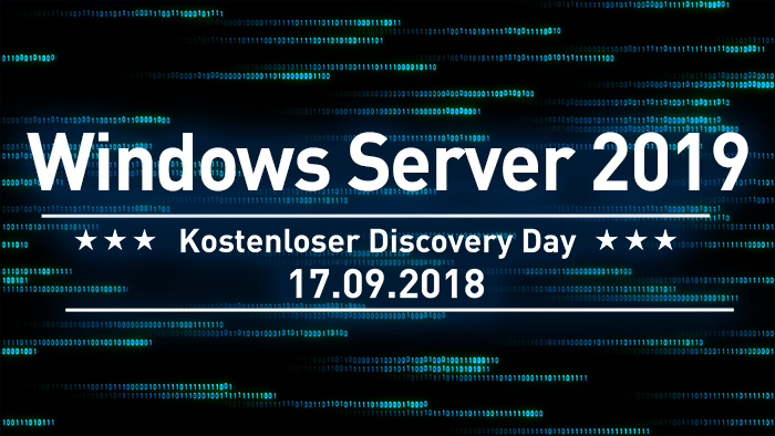 Kostenloser Discovery Day - Windows Server 2019